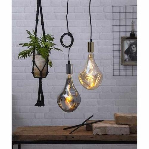 LED-Filament Leuchtmittel - Tropfen eingedrückt Chrom