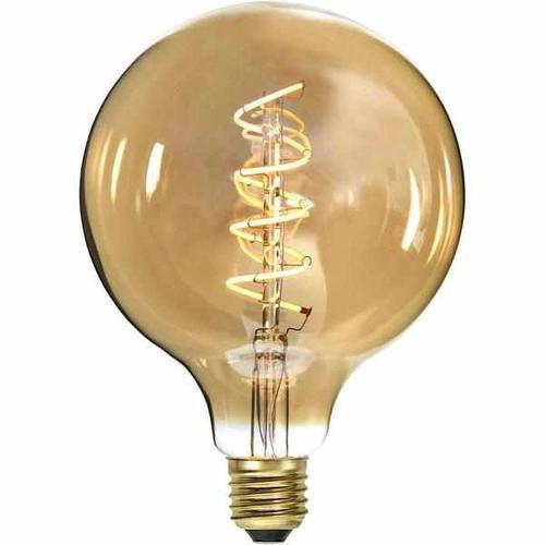 """LED Filament """"Spiralfilament"""" Gold- Kugel, 4 Watt (12,5cm)"""