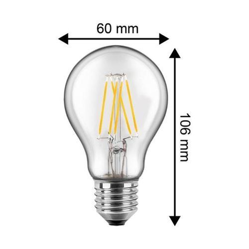 LED Filament Glühfaden Standardform 7 Watt 810 Lumen (ersetzt 60 Watt) warmweiß E27