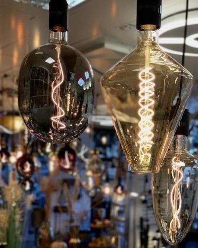 LED Kegel-Filament, gold  Ø16x26cm, 3W dimmbar