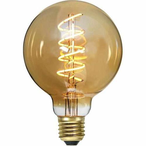 """LED Filament """"Spiralfilament"""" Gold- Kugel, 4 Watt (9,5cm)"""