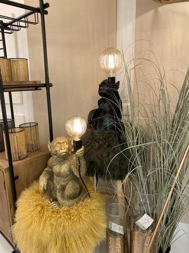 Tischleuchte - Monkey (Black / Gold)