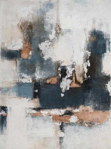 Gemälde Abstrakt - blau/silber