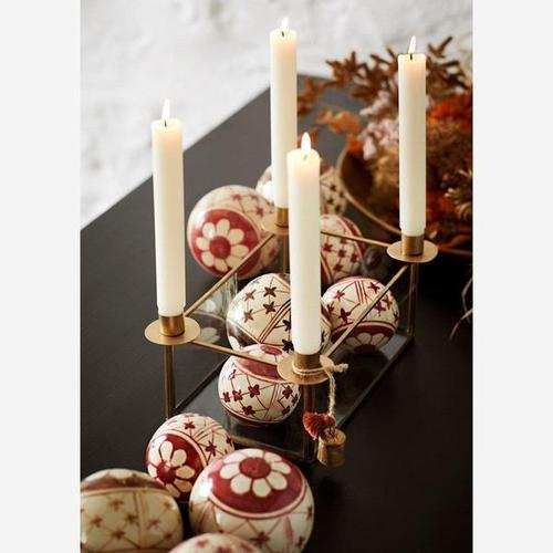 Kerzenständer - Glasbox gold