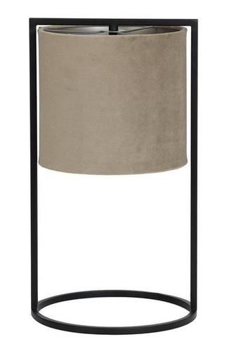 Tischleuchte - Velvet taupe 25cm