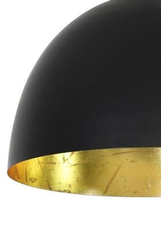 Pendelleuchte - schwarz/blattgold