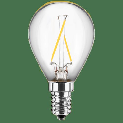 LED Filament Glühfaden Tropfen 2 Watt 250 lumen (ersetzt 25 Watt) warmweiß E14