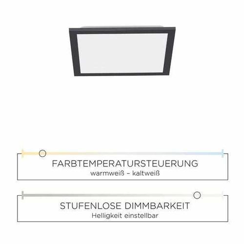 Deckenleuchte - Frame black 30x30cm
