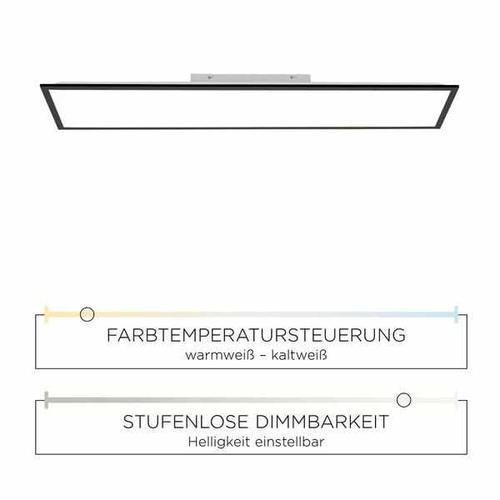 Deckenleuchte - Frame black 120x30cm