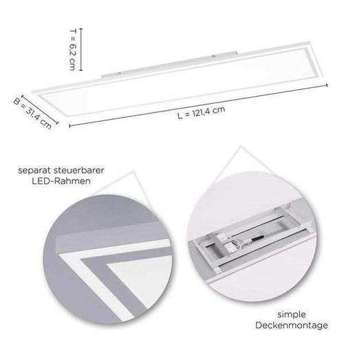Deckenleuchte - Frame In&Out 120x30
