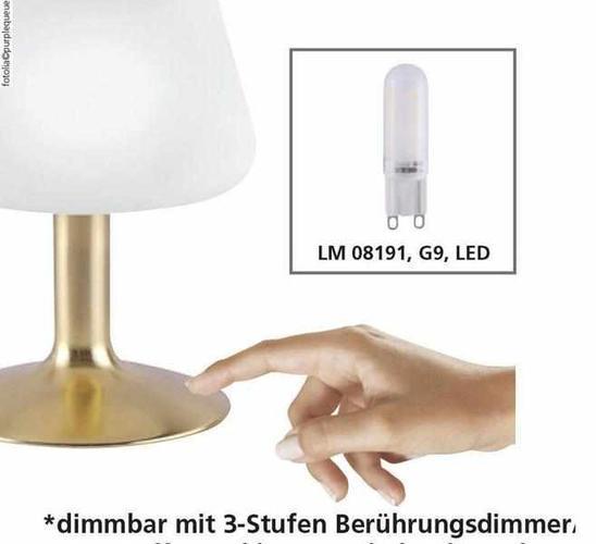 Tischleuchte - Bern (silber/gold)