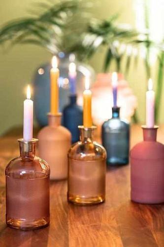 Kerzenhalter  - Set Elsa rosa