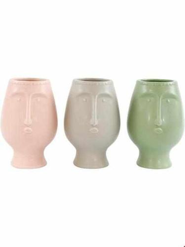 Vase - Carli (rosa/grau/grün)