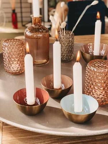 Kerzenständer - Ziegelrot