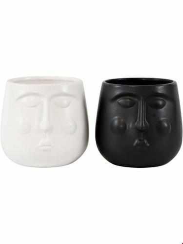 Flowerpot - Cala (black & white) mini