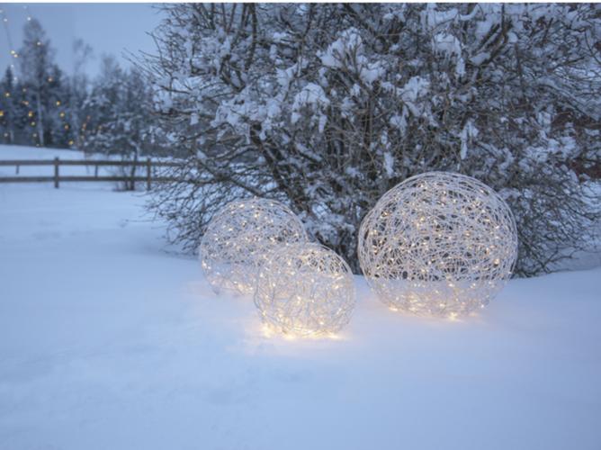 In & Outdoor Drahtkugel - Pünti LED Silber